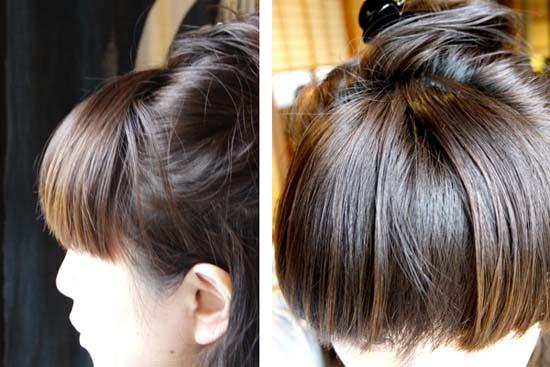ラサーナ 自然光 髪にキューティクル 天使の輪