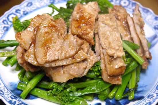 【シミ・シワレシピ】酒粕味噌ダレ 豚肉炒め