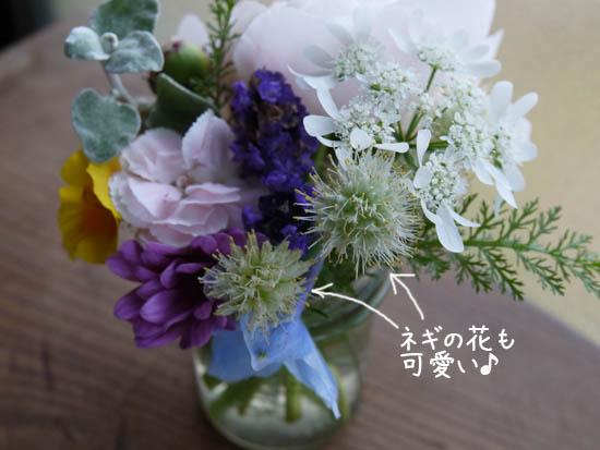 葱の花 フラワーアレンジ 5月6月