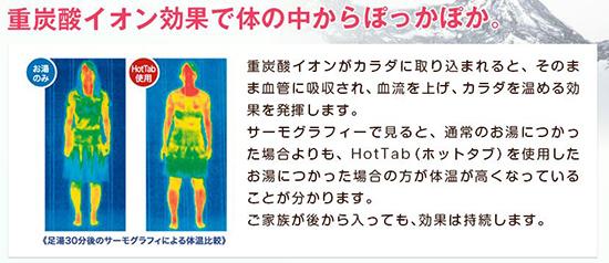 ホットタブ 重炭酸湯 入浴剤 効果