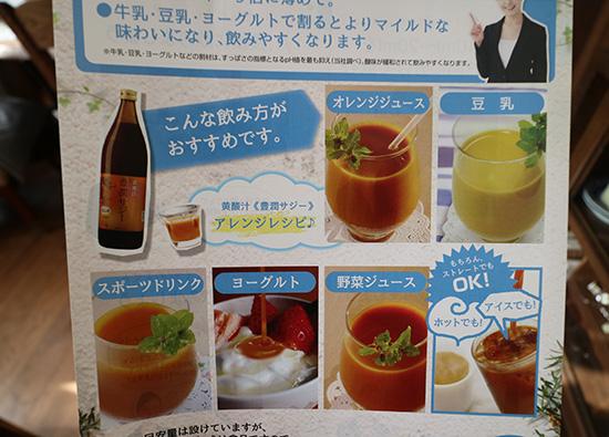 サジージュース 飲み方